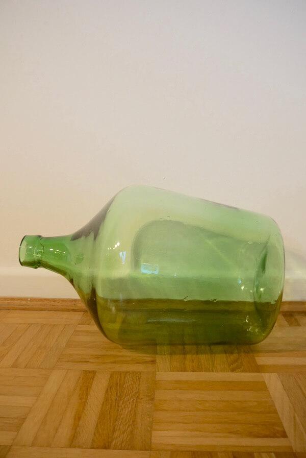Bauchige Vase Grün Vintage