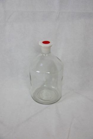 Bauchige Apothekerflasche mit Kunststoffdeckel