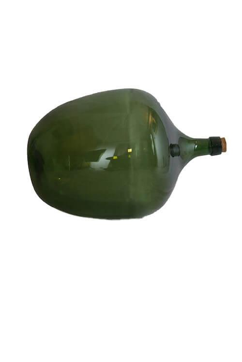 Große bauchige grüne Flasche Vase