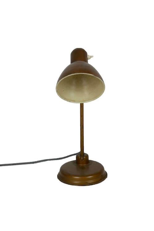 Goldene Vintage Schreibtischlampe