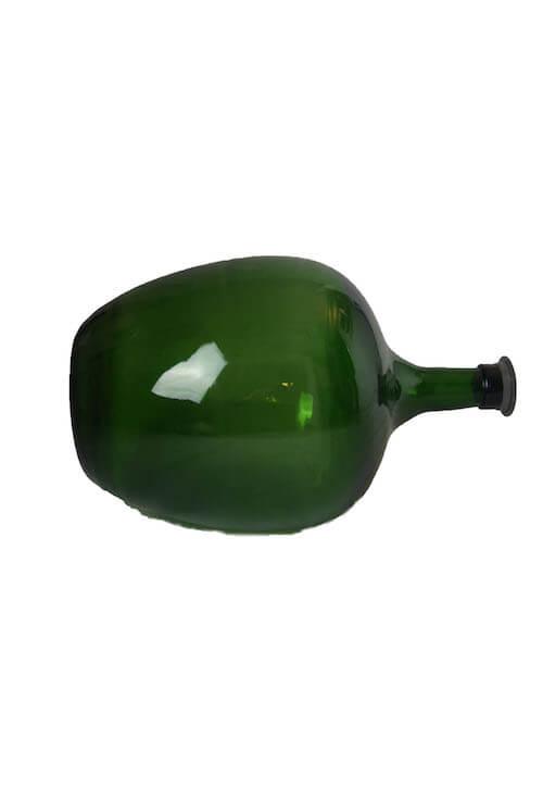 Bauchige Flasche grün Vintage