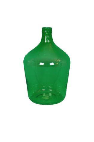 Große bauchige Vintage Vase in Grün