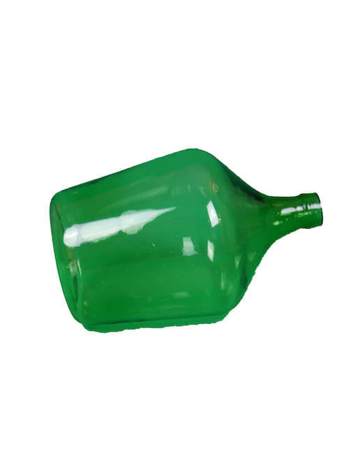 grüne bauchige Flasche