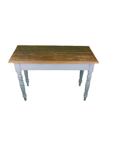 Vintage Tisch mit gedrechselten Beine Holzplatte