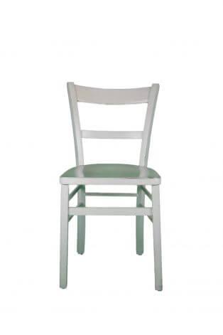 Weißer Vintage-Stuhl mit Strebe