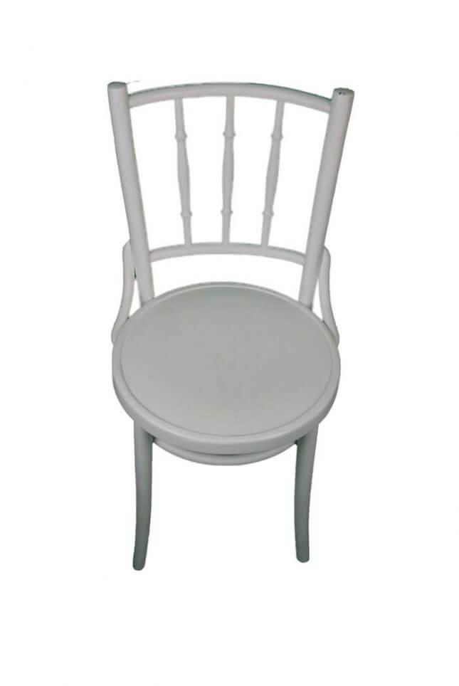 Robuster weißer Vintage Stuhl