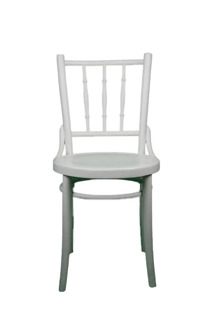 Robuster weißer Vintage Stuhl für Essbereich & Garten