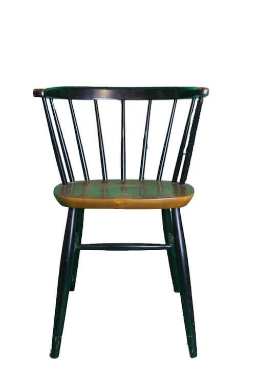Schwarzer Stuhl Vintage Holz