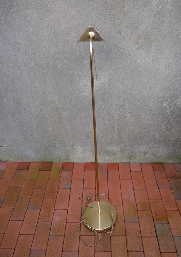 Goldene Designer Stehlampe im Vintage Stil