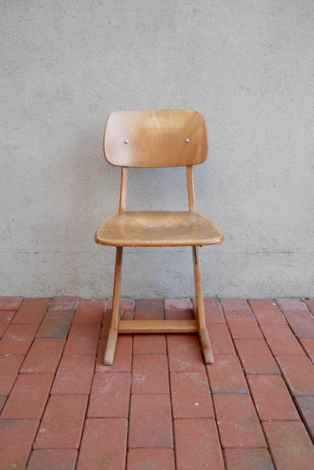 Vintage Klassenzimmerstuhl