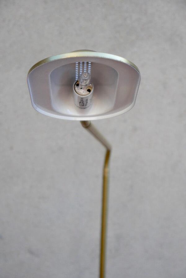 Goldene Retro Stehlampe