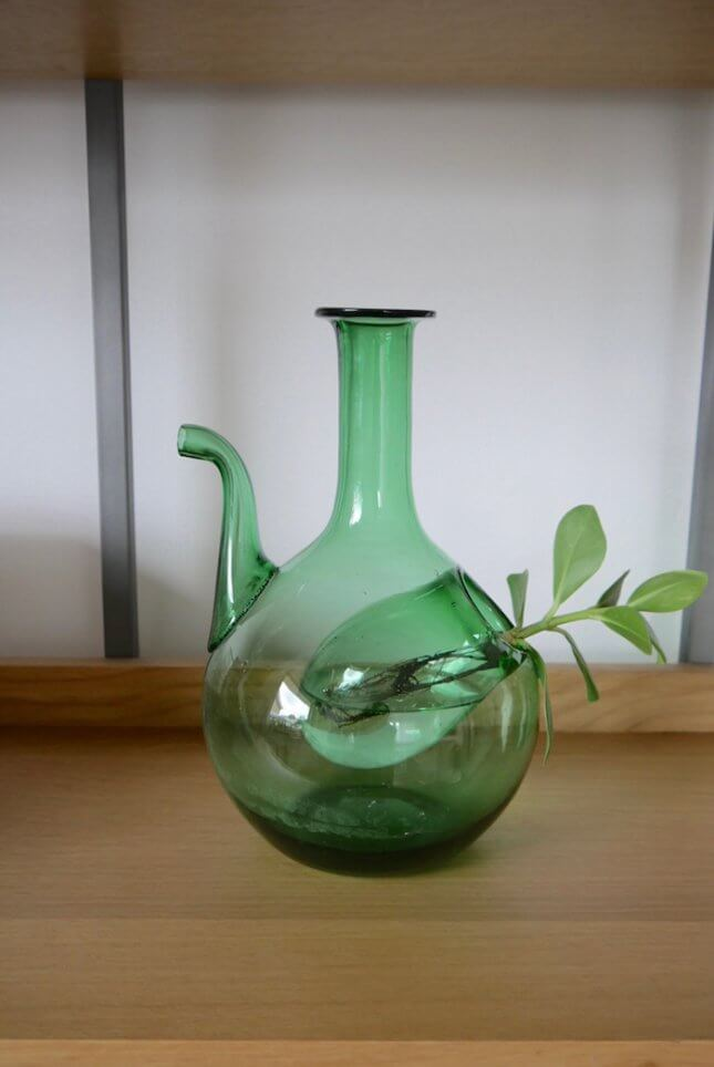 Grüne Vintage Weinkaraffe