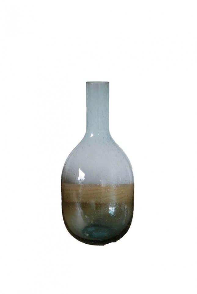 Durchsichtige Vintage Vase mit Hals