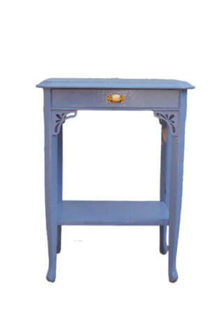 Königsblauer Vintage Beistelltisch