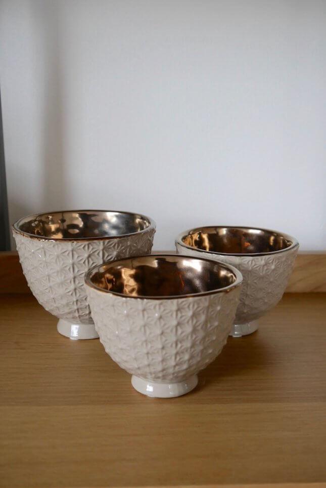 3 Porzellan Übertöpfe