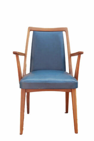 Blauer Retro Stuhl