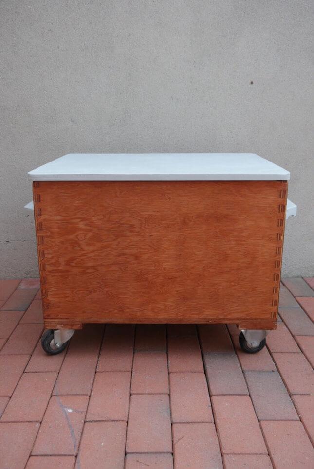 Vintage Spielzeugkiste/ Kühltruhe