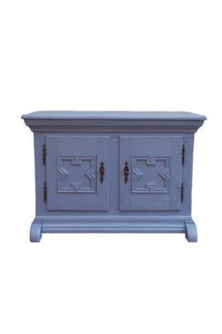 Schwere blaue Vintage Kommode