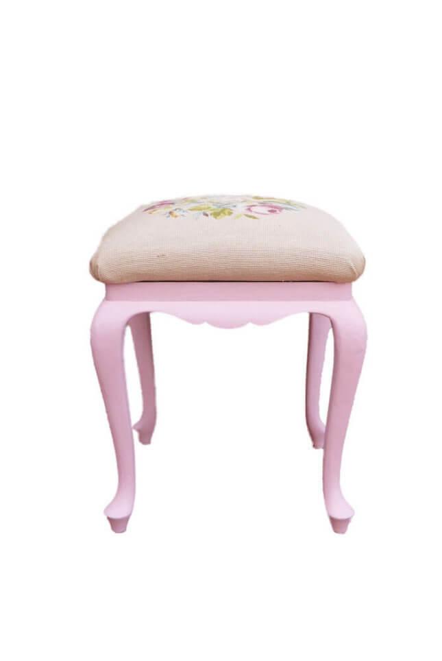 Rosa Vintage Hocker online kaufen
