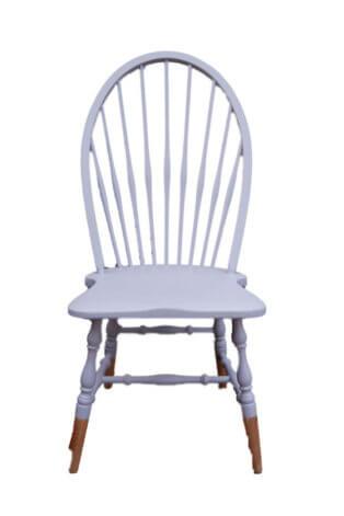 Vintage Sprossenstuhl mit großer Lehne in Taupe