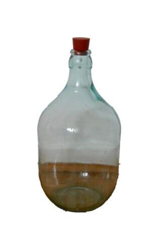 Durchsichtige bauchige Flasche