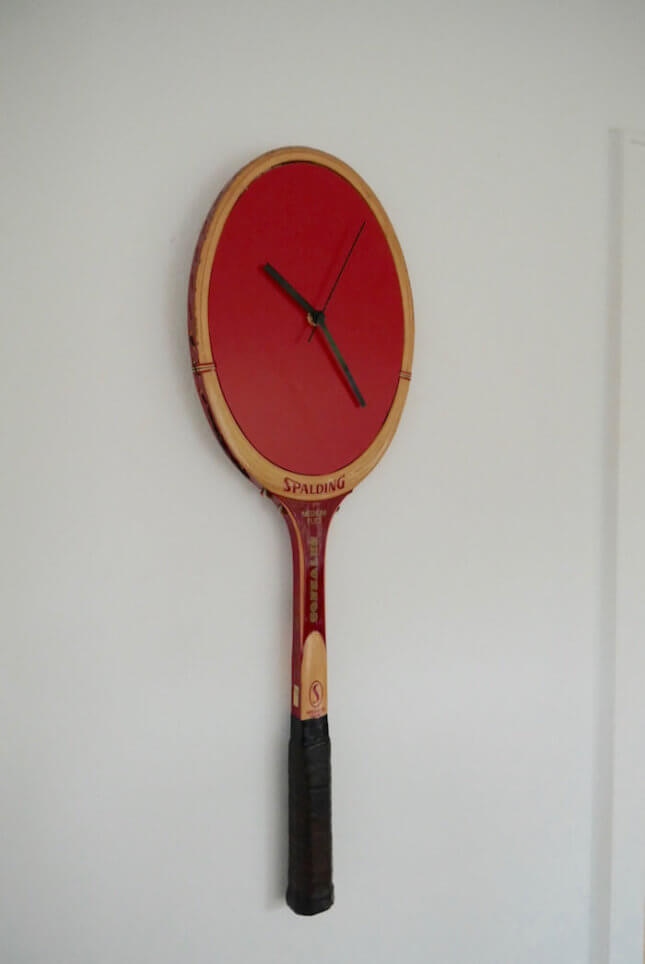 Uhr aus Spalding Retro Tennisschläger