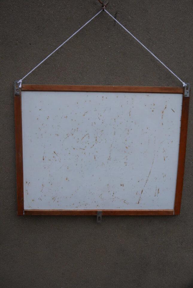 Verzierte Vintage Schultafel